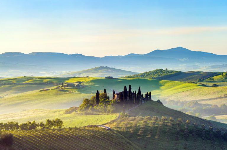 Schiffscharter Italien - Toskanische Landschaft